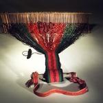 Belt Loom with Partially Woven Belt (Ai-nin-pul-lan-nai)