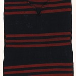 Childs Red and Blue Striped Poncho (Kesh-chin-nai)