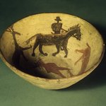 Bowl (Tetsa) Decorated with Animal and Human Figures