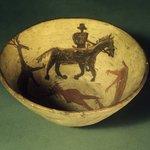 Bowl (Tetsa) Decorated with Animal and Human Figures