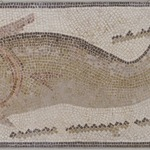 Mosaic of Dolphin Facing Left