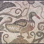 Mosaic of Duck Facing Right