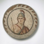 Mosaic of Personification of Roma in a Medallion