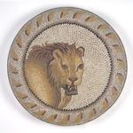 Mosaic of a Lion in a Roundel