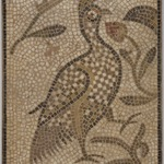Mosaic of a Bird in a Vine