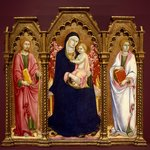 Madonna and Child with Saints James Major and John the Evangelist, altarpiece