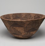 Coiled Cooking Basket (Bush-ku) with mountain quail topknot design (wash-wash-ka)
