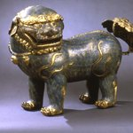 Large Figure of a Lion Dog