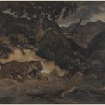 Jaguar Discovering a Snake (Jaguar découvrant un serpent)