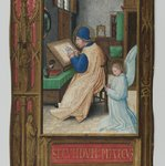 St. Matthew Writing with Angel