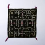 Ritual Square Cloth with Embroidered Patterns
