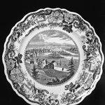 Plate (Troy from Mount Ida, Hudson River)