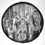 Roundel depicting Consecration of a Bishop