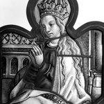 Panel depicting Crowned Virgin