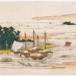 Returning Sails at Tsukudajima, from the series Eight Views of Edo