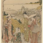 Travellers at Futami-ga-ura