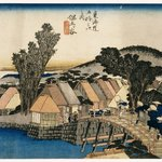 Hodogaya: Shinmachi Bridge, from the series Fifty-three Stations of the Tokaido Road