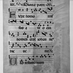 Antiphonarium (Sheet from Choir Book)