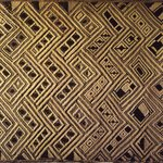 Raffia Cloth Panel Marked D43