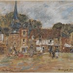 Village Square, Fervaques, Normandy