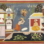 Episode Surrounding the Birth of Krishna, Page from a Dispersed Bhagavata Purana Series