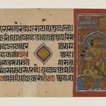 Kalaka and Sahi, Page from a Dispersed Jain Manuscript of the Kalakacharya-katha
