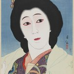 Actor Onoe Baikō VI as Sayuri, from the series Collection of Actor Portraits by Shunsen