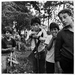 Patzcuaro, Mexico, Children Working in Cemetery from the Vivir la Muerte, Death and Rituals in South America Series