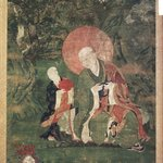 Arhat Kanakavatsa (One of Nine Tibetan Ritual Paintings of Arhats)