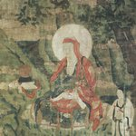Arhat Ajita (One of Nine Tibetan Ritual Paintings of Arhats)