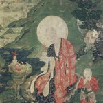 Arhat Abheda (One of Nine Tibetan Ritual Paintings of Arhats)