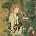 Arhat Angaja (One of Nine Tibetan Ritual Paintings of Arhats)