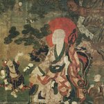 Arhat Nagasena (One of Nine Tibetan Ritual Paintings of Arhats)