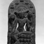 Stele with Seated Avalokiteshvara