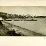 Village and Dock, Shelter Island, Long Island