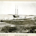 Vessel on Beach, East Shore, Shelter Island, Long Island