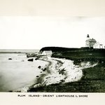 Lighthouse and Shore, Plum Island, Long Island