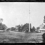 Street and Flagpole, Southampton, Long Island