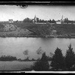 Mill Pond and Churches, Setauket, Long Island