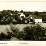 Pond and Churches, Setauket, Long Island