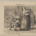 Taken By Her Operetta Part, Madame de St. Chalumeau is Shouting So Loud That She Does Not Notice the Bellowing of Her Child (Toute entière à létude de son rôle dopérette, madame de St. Chalumeau crie tellement fort quelle ne saperçoit pas que son