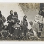 [Untitled] (Family Group of Two Men, Two Women, and Five Girls)