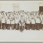 Group Portrait of an Officer with his Regiment in a Courtyard, One of 274 Vintage Photographs