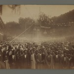 A Crowd of Men and Women Gathered to Celebrate the Granting of a Constitution, One of 274 Vintage Photographs