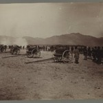 A  Military Review with Cannons,  One of 274 Vintage Photographs