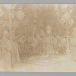 Group Portrait with Mozzaffar al-Din at Old Age,  One of 274 Vintage Photographs