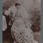 Seated Woman  Crowned with Garland, One of 274 Vintage Photographs