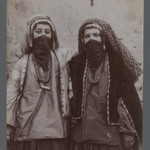 Two Girls in Tribal Costume Entwined, One of 274 Vintage Photographs