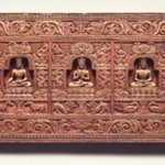 Manuscript Cover with the Five Tathagatas