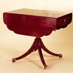 Two-Leaf Table with Carved Urn Shaped Pedestal